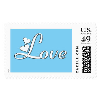 love in white postage stamp