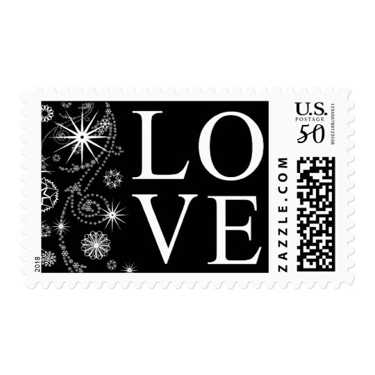 Love In Winter Postage Stamp
