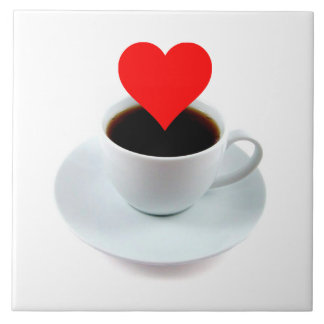 LOVE IN YOUR MORNING COFFEE CUP REST! CERAMIC TILE