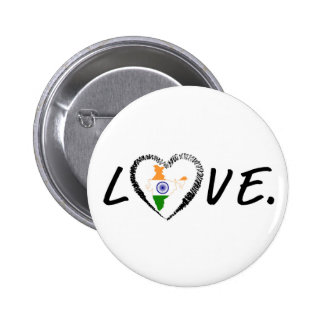 Love India Pinback Buttons