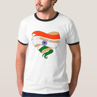 Love India Heart Ribbon Shirt Template Customize