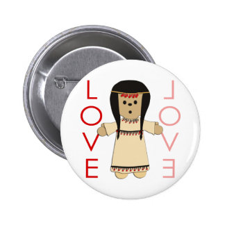 Love Indian Doll 2 Inch Round Button
