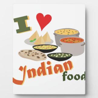 Love Indian Food Plaque