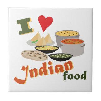 Love Indian Food Tile