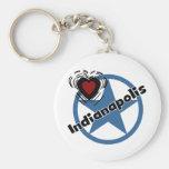 Love Indianapolis Basic Round Button Keychain