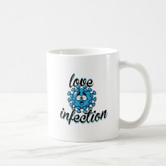 Love Infection Blue Virus blue Mug Cup