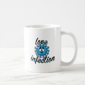 Love Infection Virus Blue azul Taza Mug