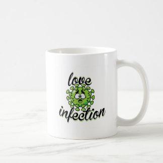 Love infection virus taza mug green  /  verde