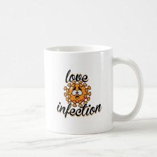 Love infection virus yellow yellow cup mug