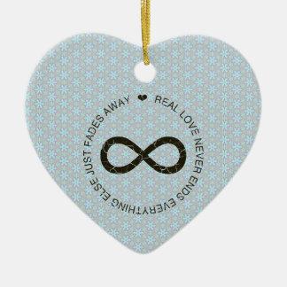 Love Infinity blue flower Ornament