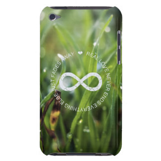Love Infinity dew drop grass Barely There iPod Cases