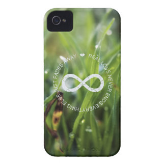 Love Infinity dew drop grass iPhone 4 Cover