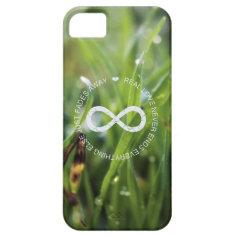Love Infinity dew drop grass iPhone 5 Cases