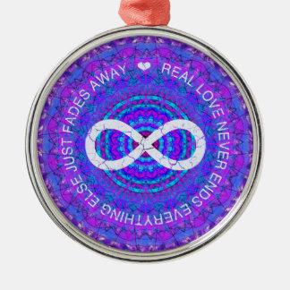 Love Infinity funky purple mandala Christmas Tree Ornaments