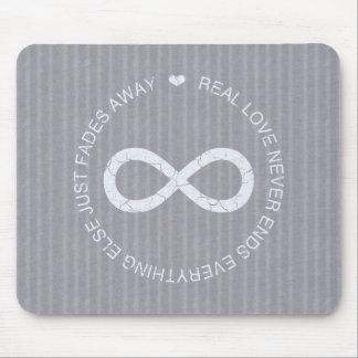 Love Infinity grey stripe Mouse Pad