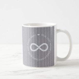 Love Infinity grey stripe Coffee Mug