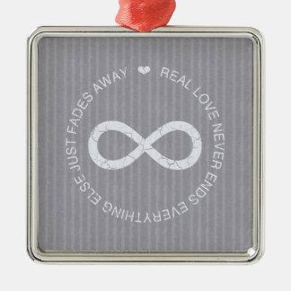 Love Infinity grey stripe Ornament
