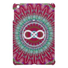 Love Infinity petal burst mandala iPad mini case