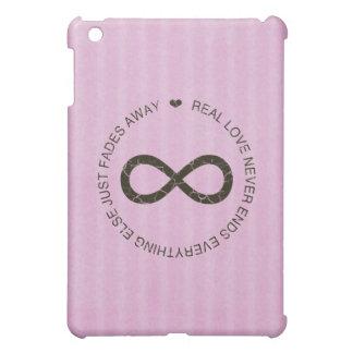 Love Infinity (pink stripe) iPad mini case