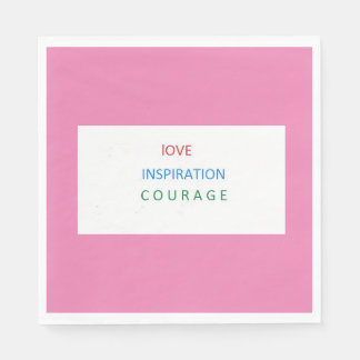 LOVE, INSPIRATION, COURAGE LUNCH-NAPKINS NAPKIN