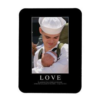 Love: Inspirational Quote Vinyl Magnet