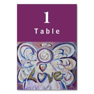Love Inspirational Word Angel Custom Table Cards
