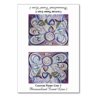 Love Inspirational Word Angel Table Tent Card