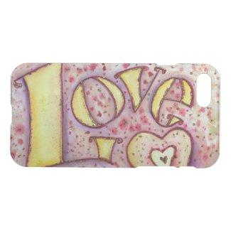 Love Inspirational Word Custom Art iPhone Case