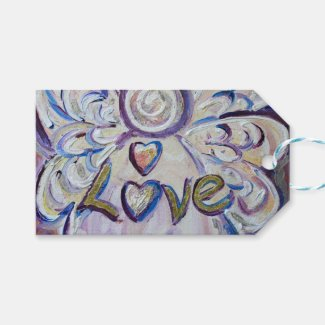 Love Inspirational Word Custom Card Gift Tags