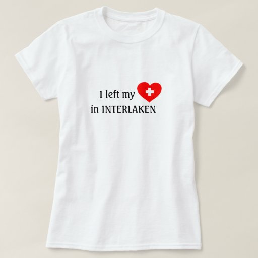 Love Interlaken souvenir t-shirt