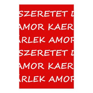 Love International Stationery