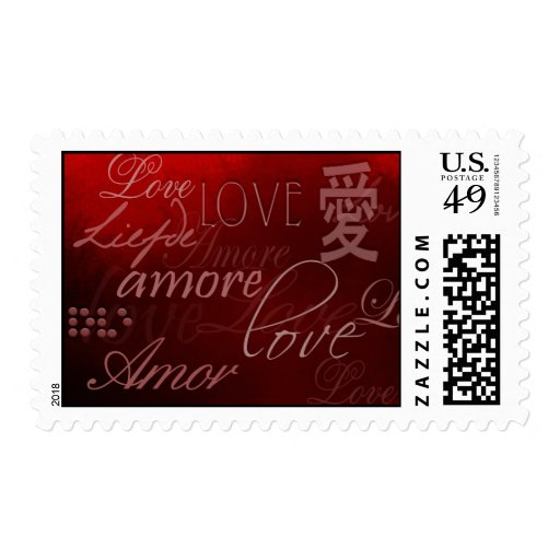 Love International Style Stamp