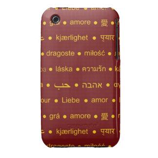 Love international words iPhone 3 case