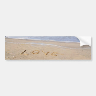 Love into the sand written - autostickers bumper sticker