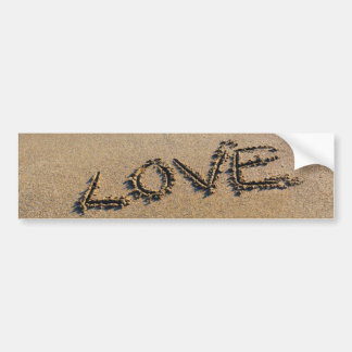 Love into the sand written Bumper Sticker