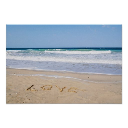 Love into the sand written - pressure poster