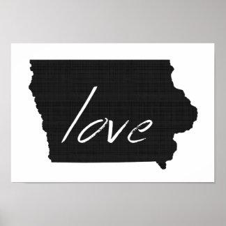 Love Iowa Poster