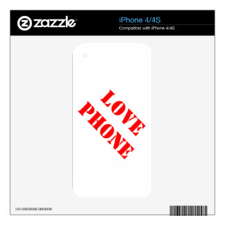 LOVE iPhone 4S DECAL