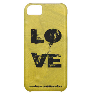 Love Iphone Black And Gold iPhone 5C Cover