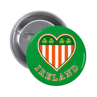 Love Ireland Pinback Buttons