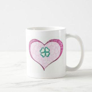 Love irish clover leaf henna coffee mug
