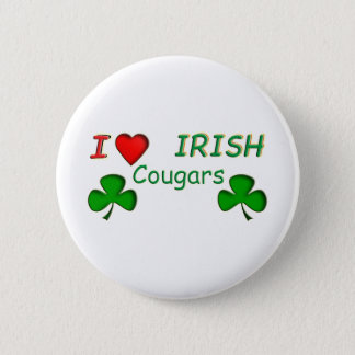 Love Irish Cougar Pinback Button