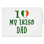 Love Irish Dad Greeting Card