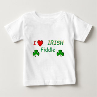 Love Irish Fiddle Baby T-Shirt