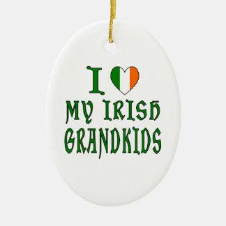 Love Irish Grandkids Ceramic Ornament
