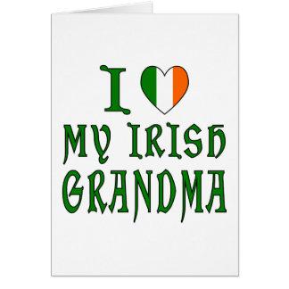 Love Irish Grandma Card