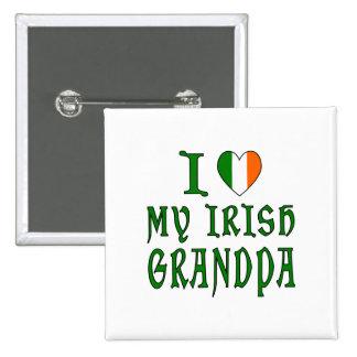 Love Irish Grandpa Pinback Button