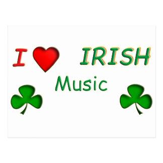 Love Irish Music Postcard