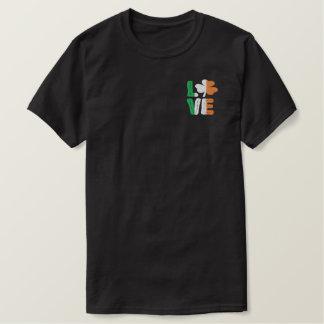 Love Irish Shamrock St Patricks Day Embroidered T-Shirt