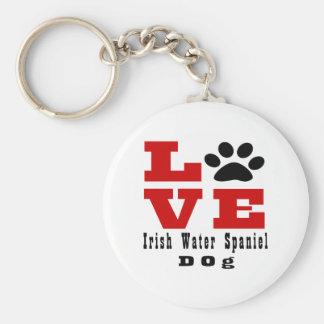 Love Irish Water Spaniel Dog Designes Keychain